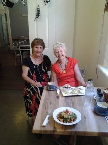 At a Brissie cafe with Sheila